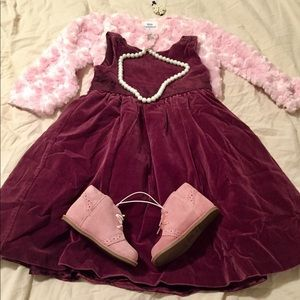 NWOT Girl 2T Gymboree Burgundy Velvet Dress